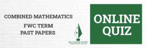 Combined Mathematics - Field Work Center - Term Exam Paper