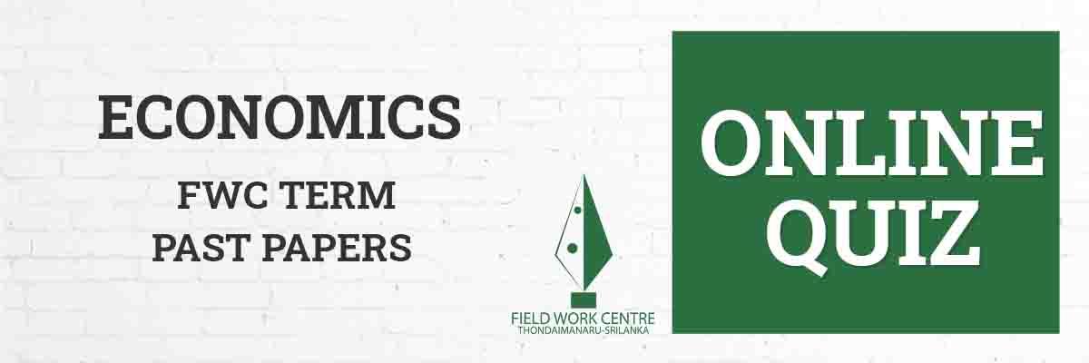 Economics - Field Work Center - Term Exam Paper